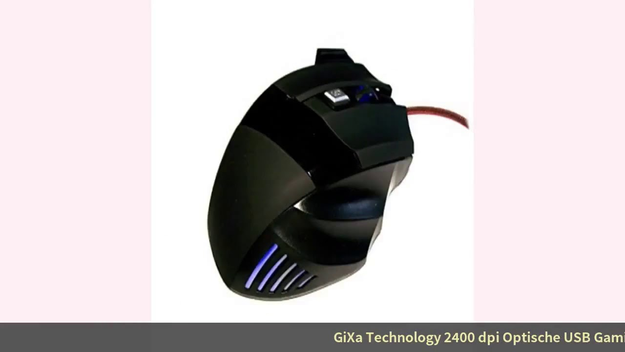 Test GiXa Technology 2400 dpi Optische USB Gaming Maus 7 Tasten Blau LED Schnell Ergonomisc 🌲