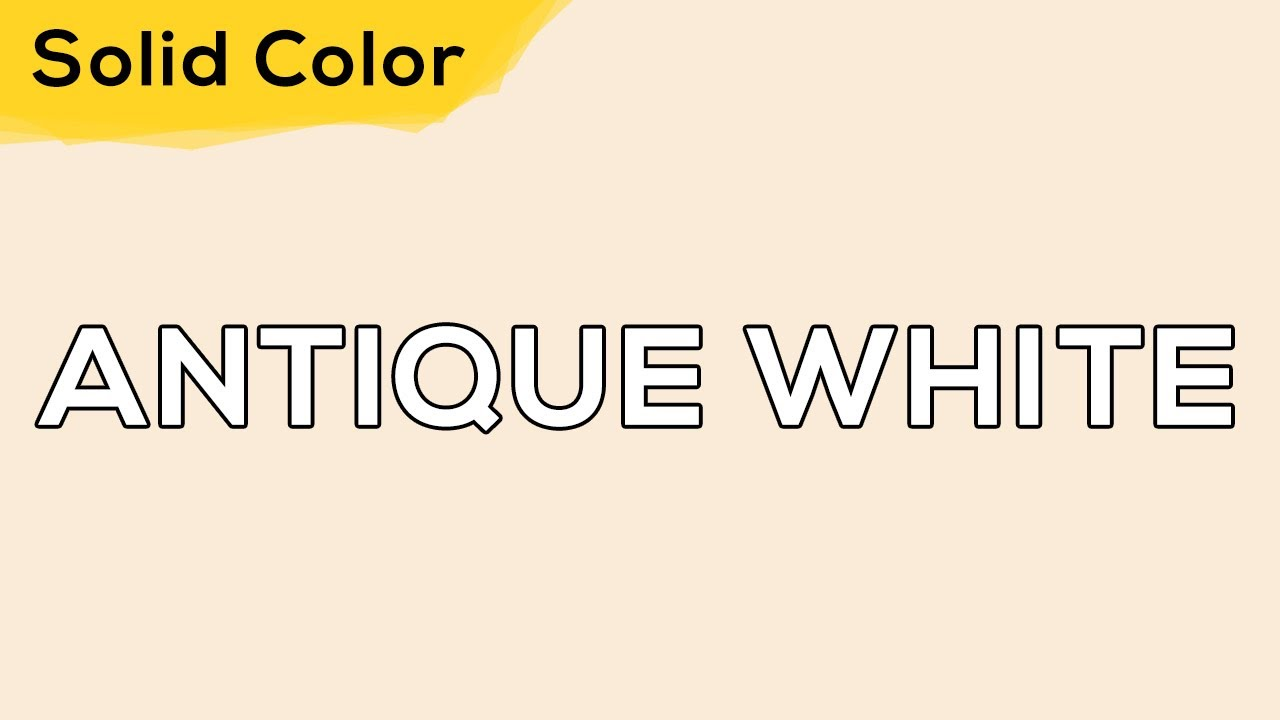 ANTIQUE WHITE – Solid Color Light 115 💡 illumination, ambient, monitor test, wallpaper . jomirife
