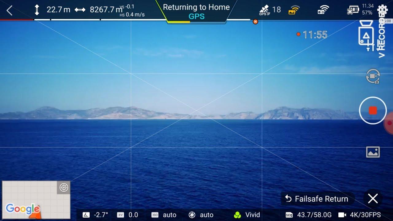 Range test over the sea !!  8267.7m with xiaomi  fimi x8 se 2020   (2020/5  version )