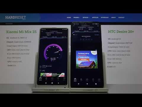 Xiaomi Mi Mix 2S vs HTC Desire 20+ – Wi-Fi Speed Test Comparison