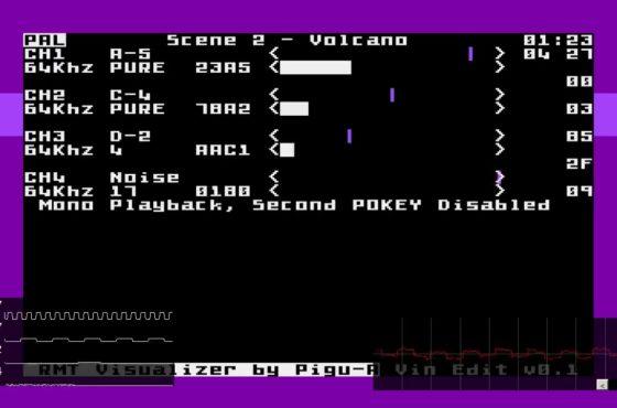 Scene 2 – Volcano + Notes Display Test