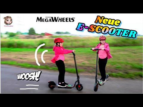 E-SCOOTER FAHREN 🛴 Neuer! Größer! Schneller – mit dem Elektroroller MegaWheels Scooter S10BK