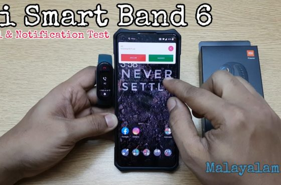 Mi Smart Band 6 (Real life review) Call and Notification Test (Malayalam)