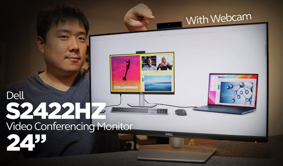 """Dell 24"""" Conferencing Monitor (S2422HZ) Review – USB-C Hub, Webcam, and Speaker Tests"""