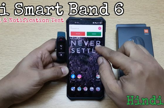 Mi Smart Band 6 (Real life review) Call and Notification Test (Hindi)