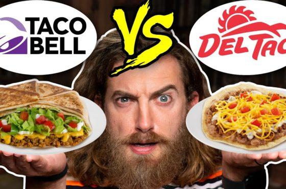 Taco Bell vs. Del Taco Taste Test   Food Feuds