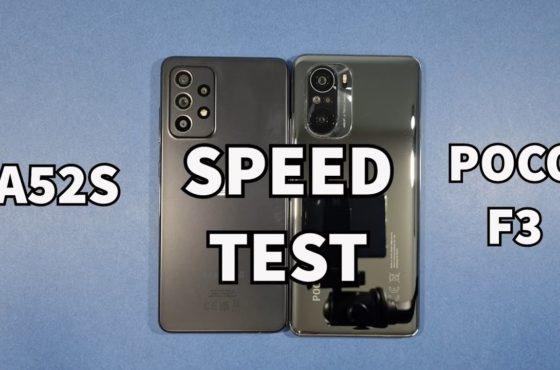 Samsung A52S 5G vs Xiaomi Poco F3 Speed Test