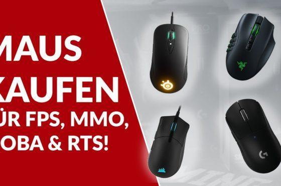 Gaming-Maus kaufen: Die besten Mäuse für FPS, MMO, MOBA & RTS!