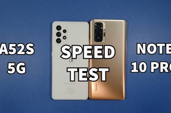 Samsung A52S 5G vs Xiaomi Redmi Note 10 Pro Speed Test