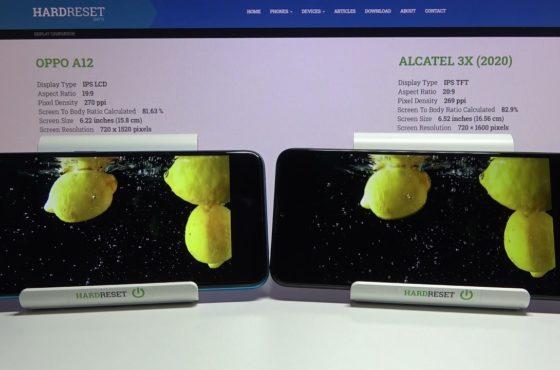 Display Comparison OPPO A12 vs ALCATEL 3x 2020 – Screen Quality Test